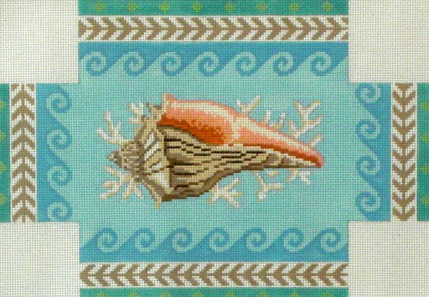 Geo Pattern Whelk Brick Cover  (handpainted by Susan Roberts) 18*6316