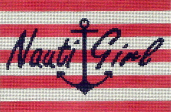 Nauti-Girl  (handpainted from CBK needlepoint Collection) 18*SASS-24