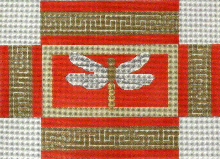 Dragonfly Brick Cover  (handpainted by CBK Needlepoint Collection) 18*DK-BC-02