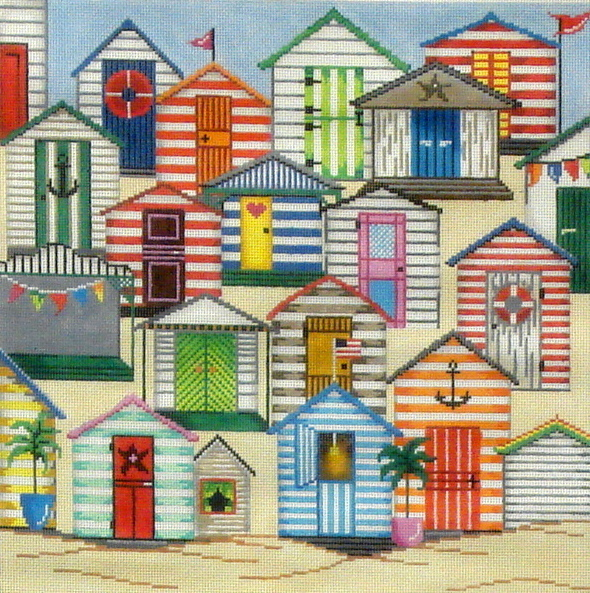 Cabanas  (Handpainted by Patti Mann) 18*11860-PP