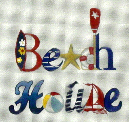 Beach House  (handpainted by Melissa Shirley) 18*MLT-246