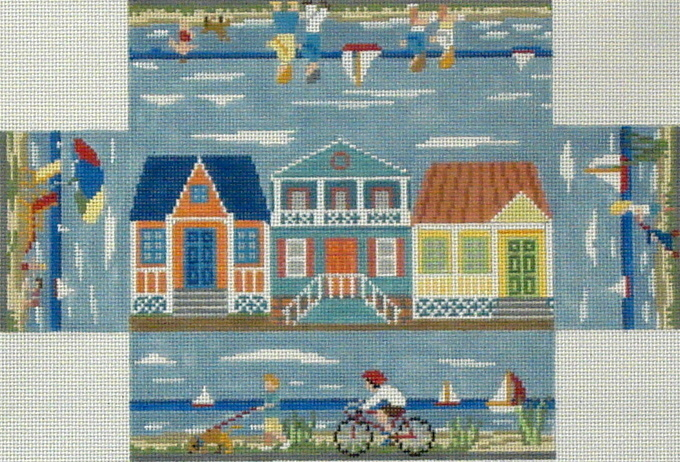 Beach Walk Brickcover   (Handpainted by Susan Roberts) 18*6304