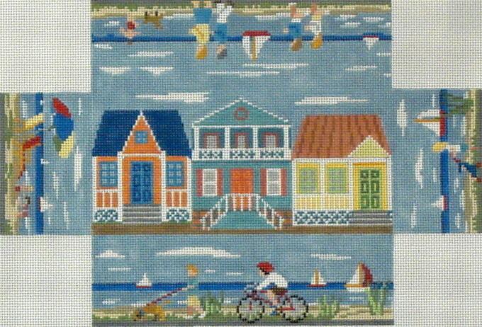 Beach Walk Brick Cover   (Handpainted by Susan Roberts) 18*6304
