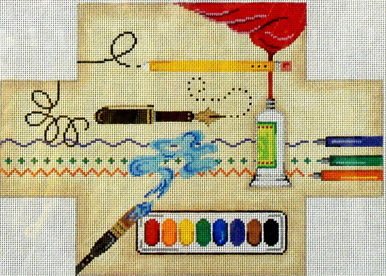 Art Supplies Brick Cover  (Handpainted by Patti Mann) 18*11874-BC