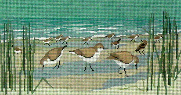 Sanderlings  (handpainted by Susan Roberts)
