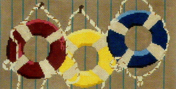 Life Rings     (Hand Painted by CBK Needlepoint Collection)
