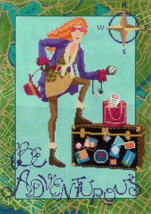 Be Adventurous   (Handpainted by Ruth Schmuff Designs)