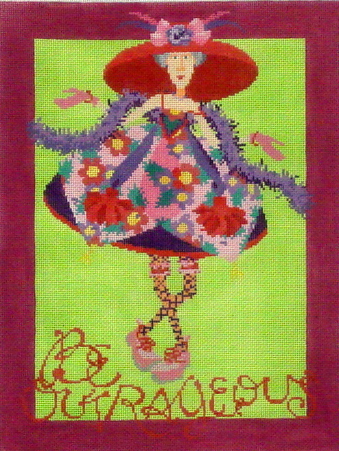 Be Outrageous     (Hand Painted by Ruth Schmuff Designs)) 18*1076