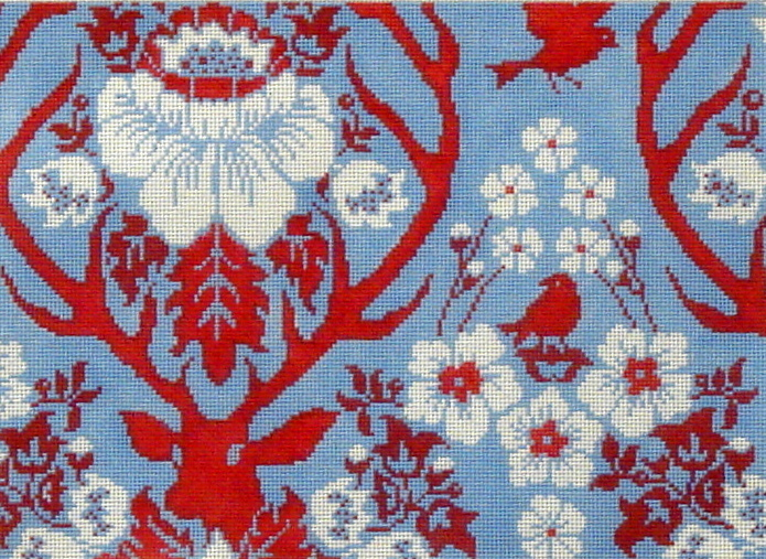 Antler Damask - Sky   (Handpainted by Cooper Oaks) 18*4003-S