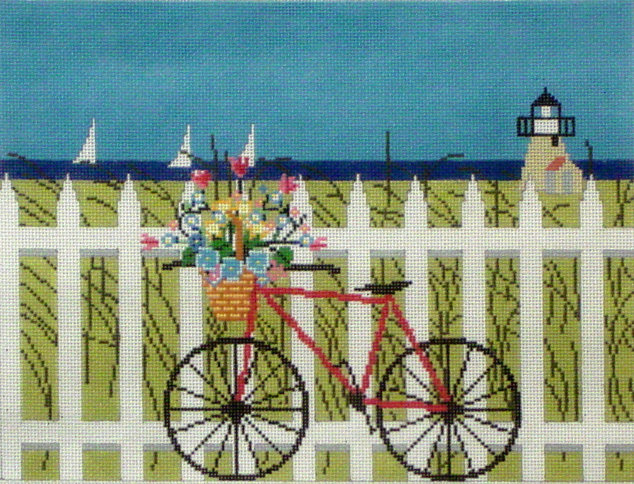 Maine Transportation  (Handpainted by TheWellesley Needlepoint)
