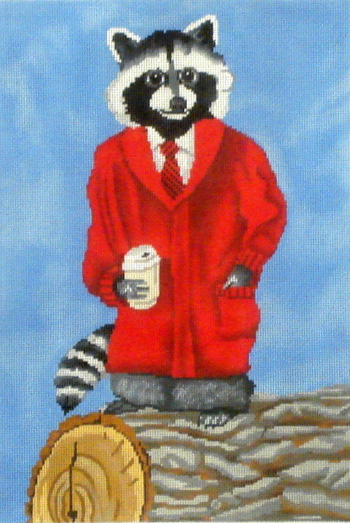 Dapper Racoon with Coffee  (Scott Church152) *SC-PL79
