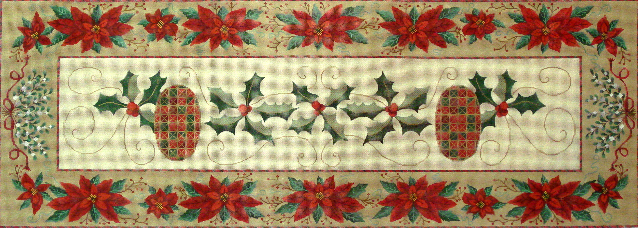Christmas Table Runner   (A Needlepoint Alley canvas exclusive) 17*NPA