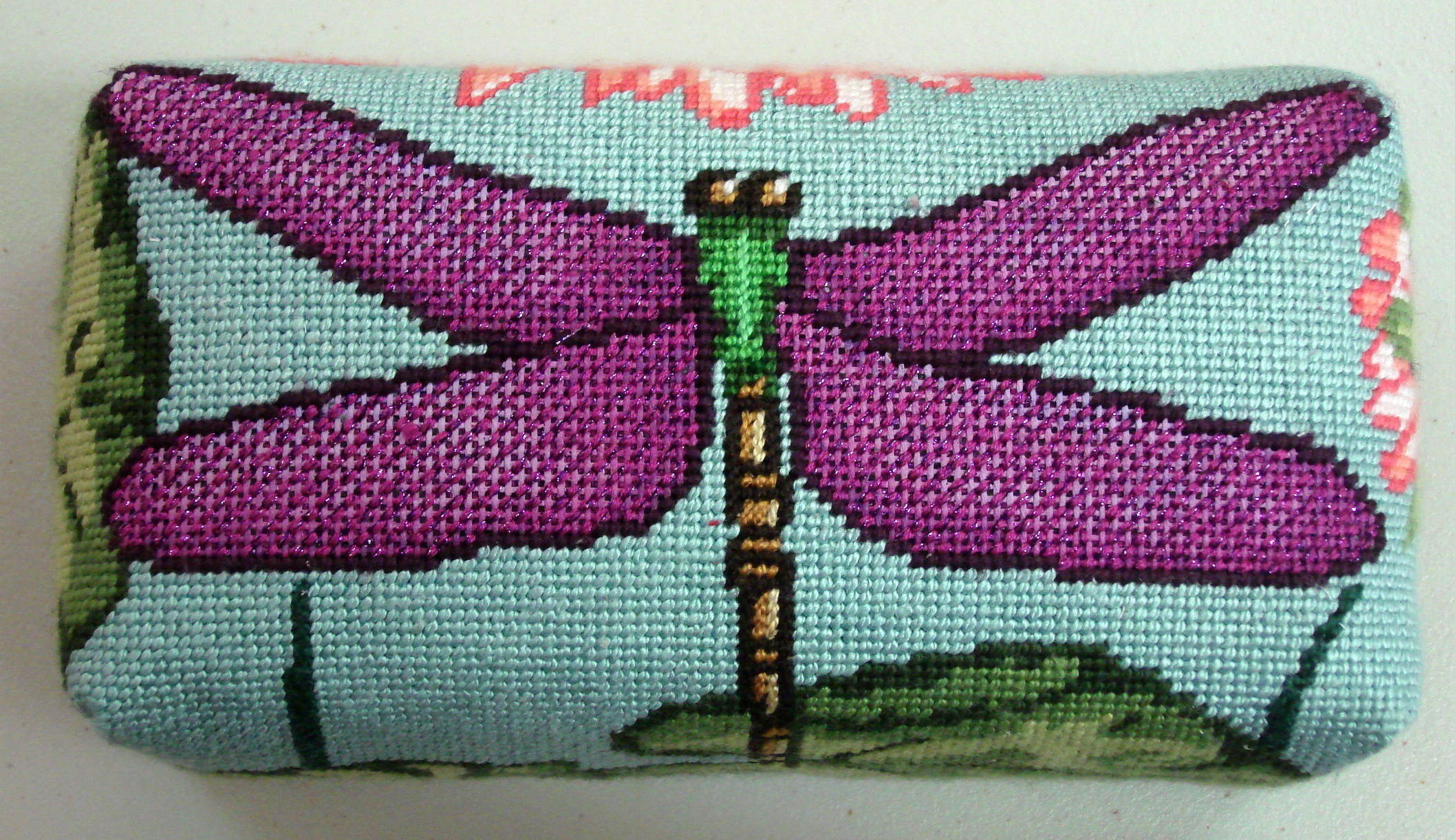 Dragonfly brick cover    (handpainted by Gayla Elliot)