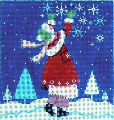 Catching Snowflakes (Handpainted from Shelly Tribbey Designs)