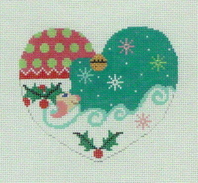 Heart Shaped Santa (Handpainted by Shelly Tribbey Designs)