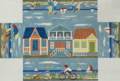 Beach Walk Brick Cover   (Handpainted by Susan Roberts)