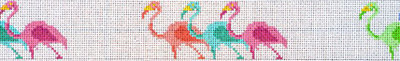 Flamingos Belt (Handpainted by Trubey Designs)