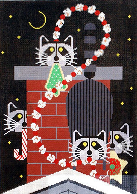 Christmas Capers   (handpainted needlepoint canvas from Meredith Collection)
