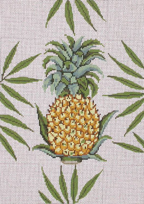 Pineapple Brick Cover    (handpainted by All About Stitching)