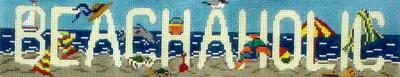Beachaholic (Handpainted by Needle Crossings)
