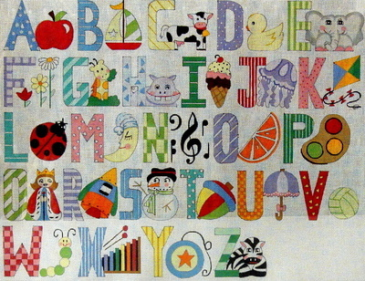 Upper Case Alphabet  (Handpainted by Alice Peterson Company)