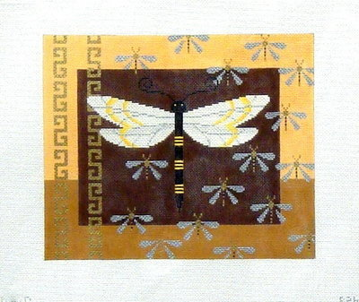Big Dragonfly and Baby Dragonflies    (Handpainted by JP Needlepoint)