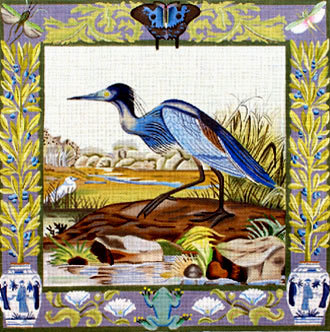 Blue Heron   (handpainted by Melissa Shirley)