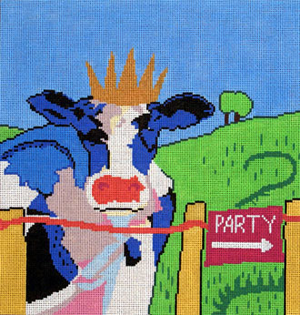 Party Cow (Handpainted by The Point of It All Designs)