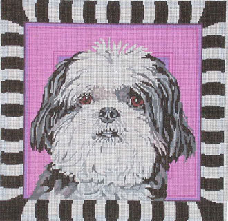 Shih-tzu, Puppy Cut (Handpainted by Barbara Russell Designs)