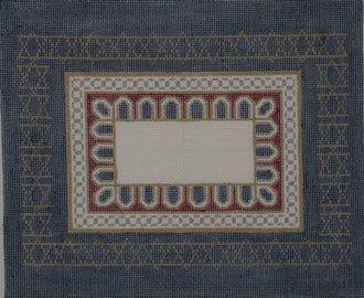 Scallops, Navy Tallis Bags (Handpainted by Susan Roberts Designs)