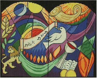Judaic Torah of the Truth Tallis Bag    (handpainted by Susan Roberts)