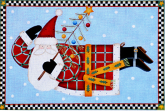 Joyous Tidings Santa Pillow   (handpainted by Melissa Shirley)