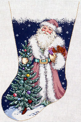 Nicholas Stocking      (Handpainted by Sandra Gilmore Designs)