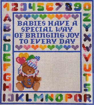 Birth Announcement, Boy    (handpainted by Treglown Designs)