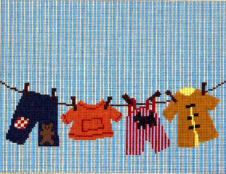 Boy Laundry Birth Announcement   (Patty Paints)