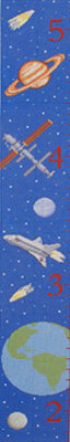 Galaxy Growth Chart  (handpainted by Susan Roberts)