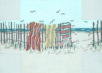 Beach Towels Brick Cover    (Handpainted by Needle Crossings)