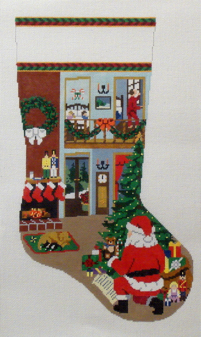 The Night Before Christmas   (handpainted by Susan Roberts) 18*MH-0102