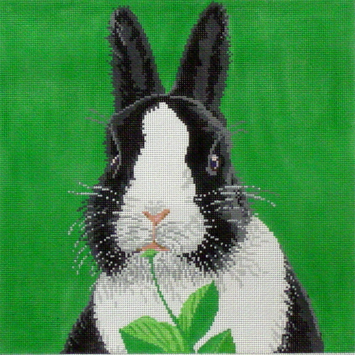 Bunny, Black & White   (handpainted from Meredith Collection) 18*C-450BW