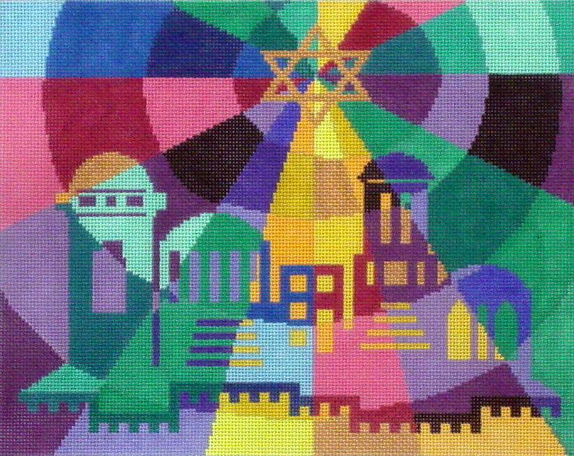Prism City    (Handpainted by Fleur de Paris) 18*JT050