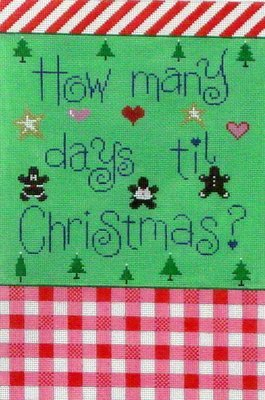 How Many Days til Christmas, includes base and blocks  (handpainted by Patti Mann)