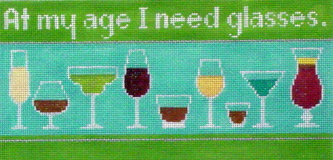 At My Age I Need Glasses   (Handpainted by Labors of Love) 18*LL370