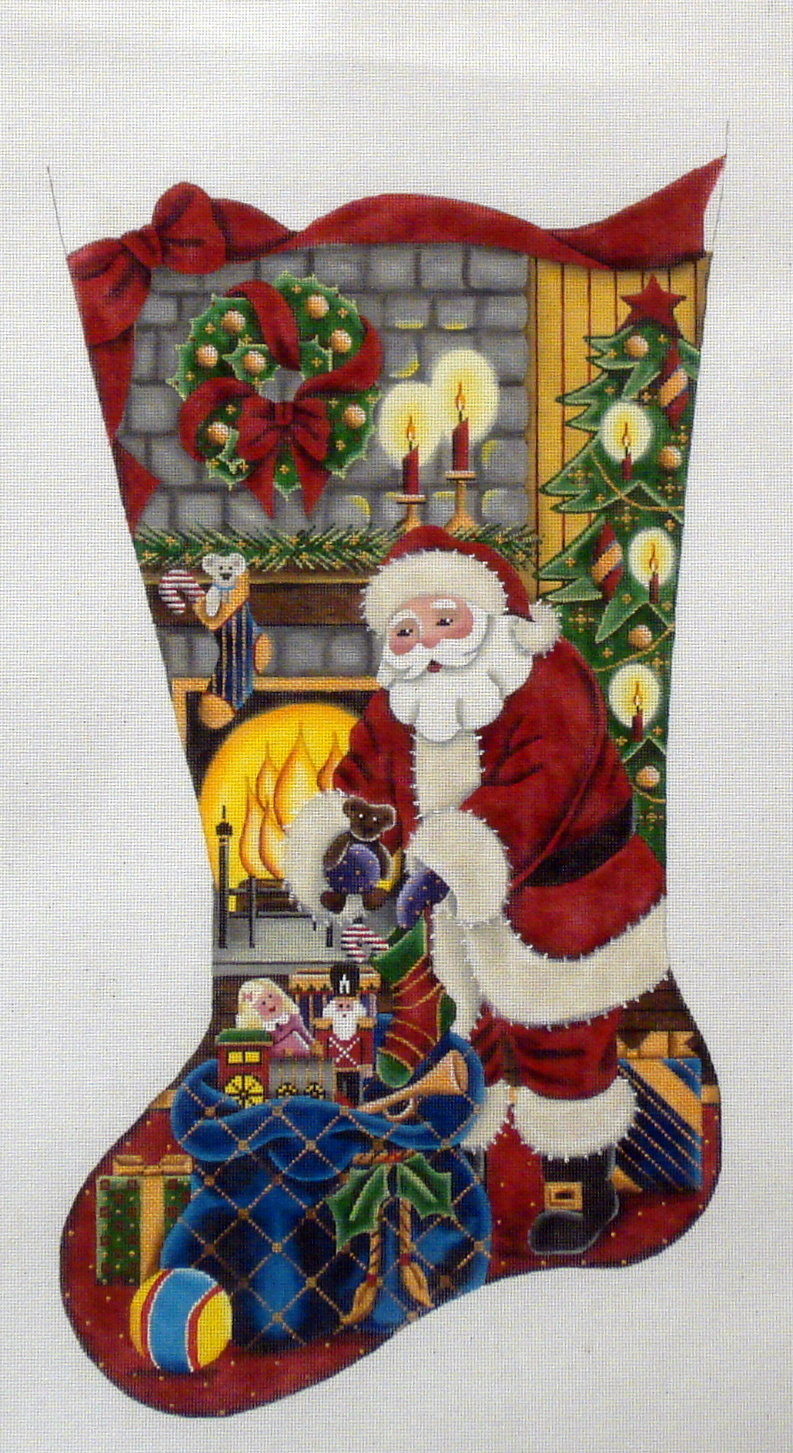 Filling Stockings    (handpainted by Rebecca Wood) 18*1371