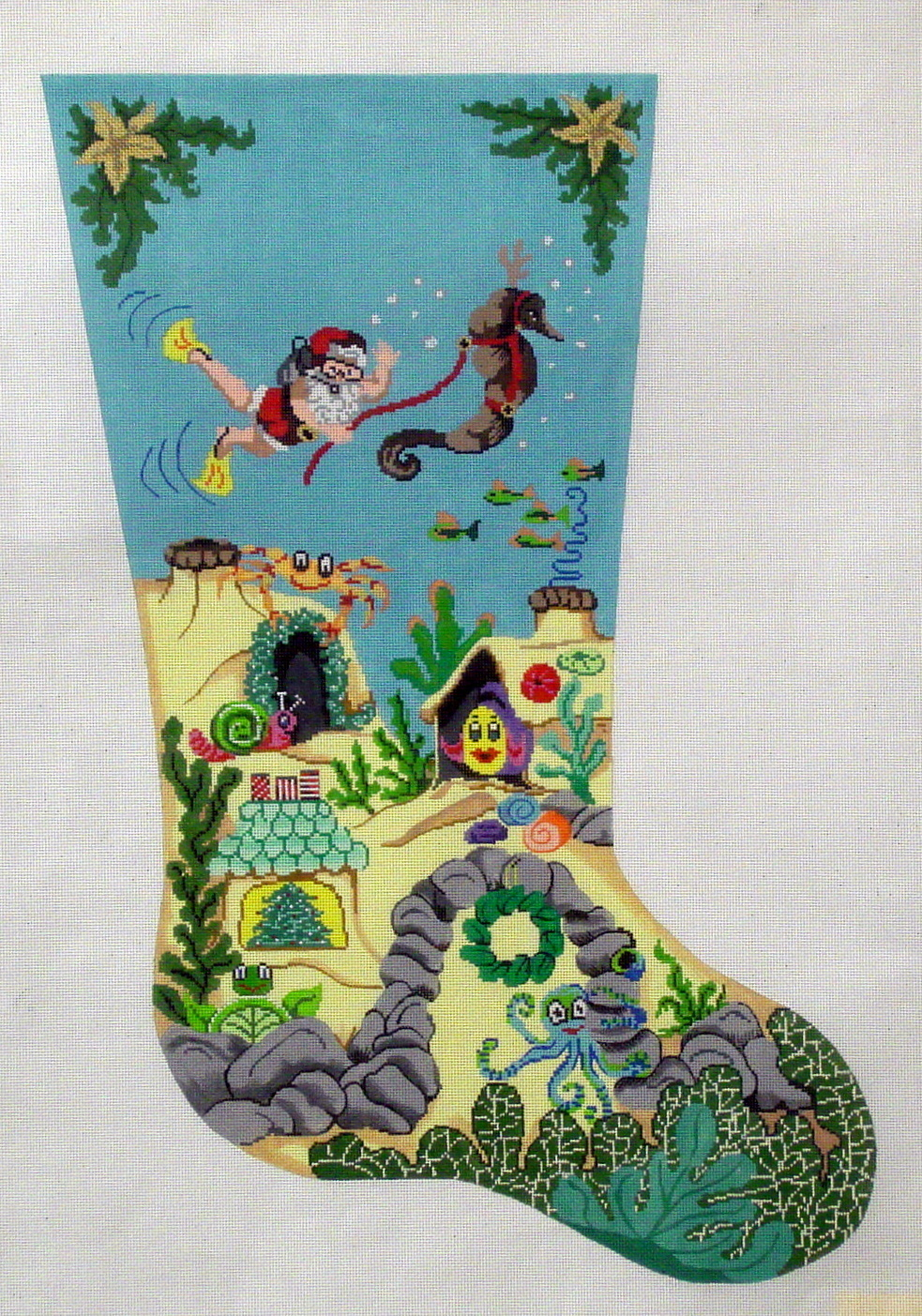 Scuba Santa   (Handpainted by Patti Mann) 18*9475