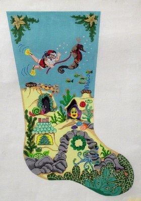 Scuba Santa   (Handpainted by Patti Mann)