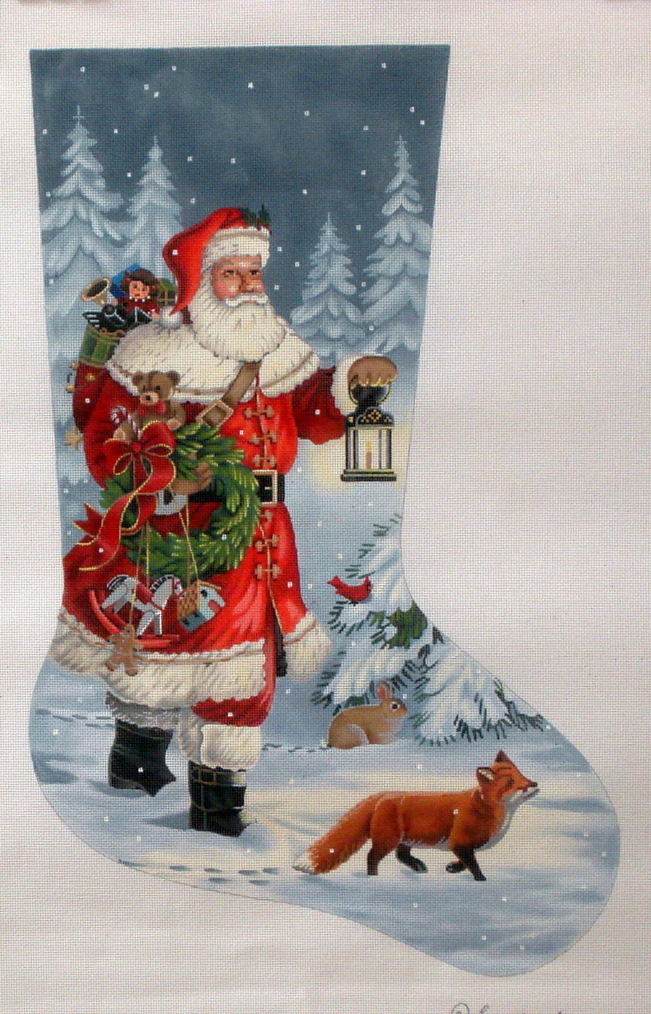 Lantern Woodland Walk Stocking   (Tapestry Tent) *LGDAXS-485