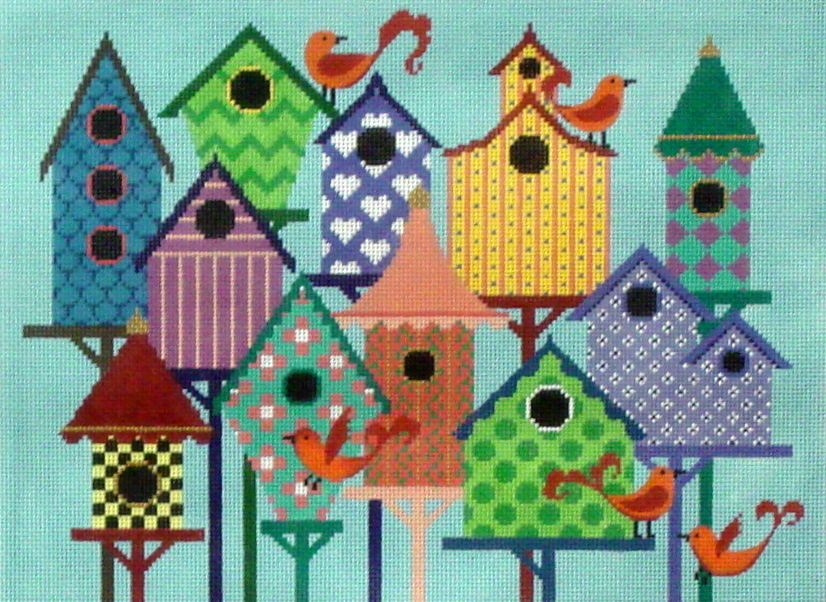 Bird City   (Hand Painted by JP Needlepoint) 18*B-101