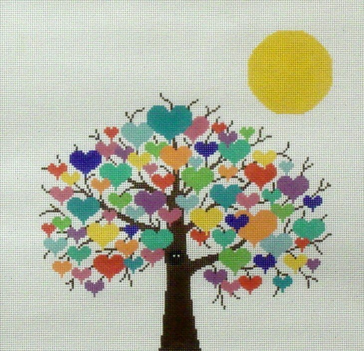 Tree of Love    (Handpainted from JP Needlepoint)