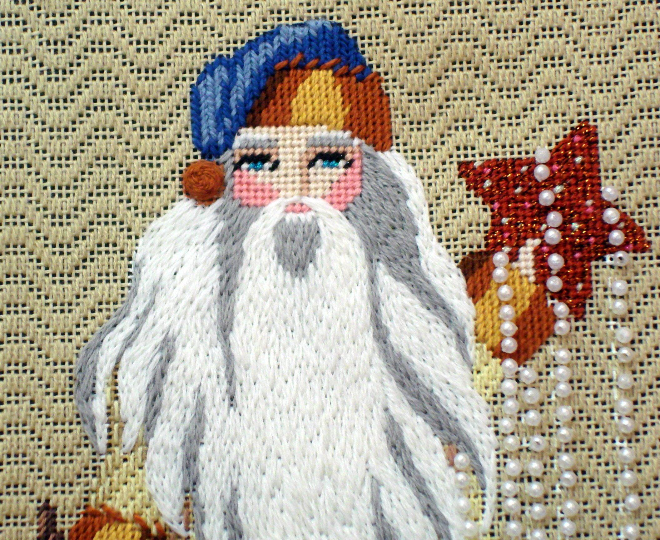 Seeing Stars Santa      (Handpainted by Leigh Designs)