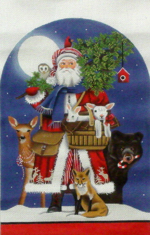 Woodsy Santa    (handpainted by Melissa Shirley) 18*MLT-333